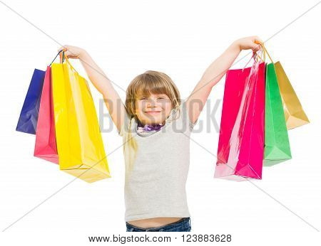 Excited And Enthusiastic Young Shopping Girl
