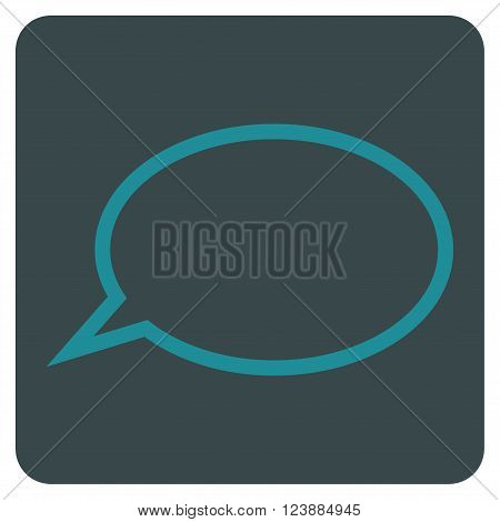 Hint Cloud vector symbol. Image style is bicolor flat hint cloud iconic symbol drawn on a rounded square with soft blue colors.