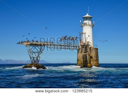 Roman Rock Lighthouse in False Bay South Africa