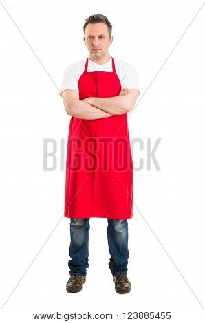 Confident Butcher Or Supermarket Worker