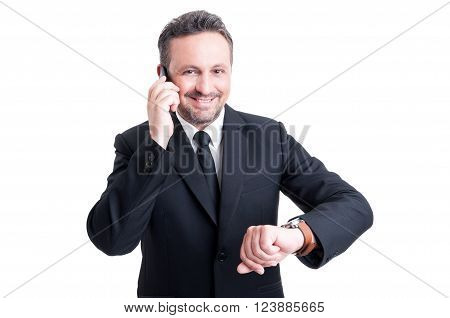 Business Man With Punctuality