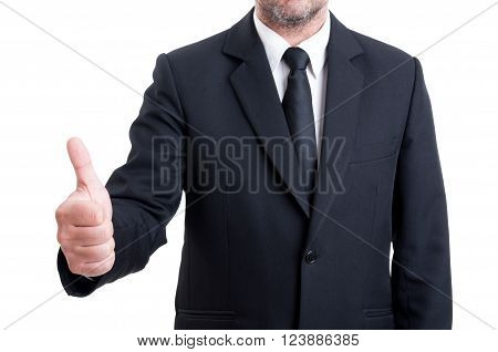 Anonymus Business Man Showing Thumb Up