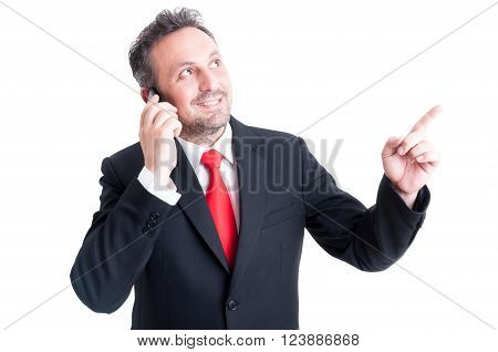 Business Man Having An Ideea While Talking On The Phone