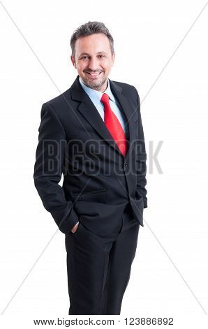 Elegant And Formal Business Man Standing