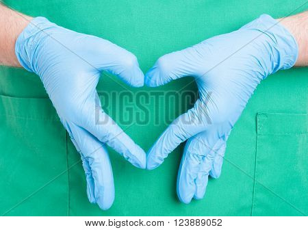 Doctor Hand Making Heart Shape