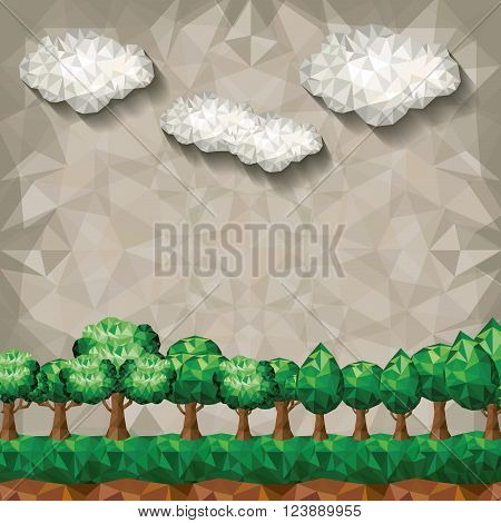 forest landscape design, vector illustration eps10 graphic