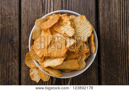 Bowl With Rippled Potato Chips