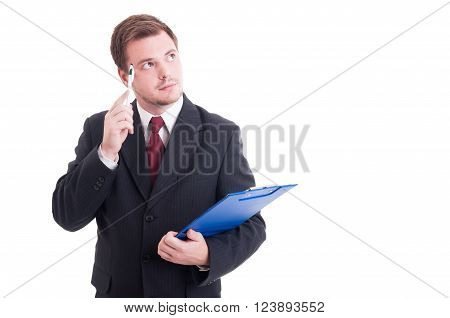 Pensive Accountant Or Financial Manager