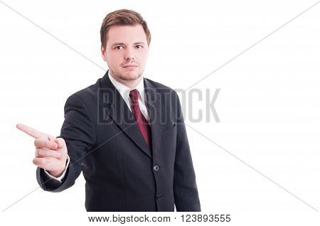 Accountant Or Financial Manager Showing Refuse, Denial And Rejection Gesture