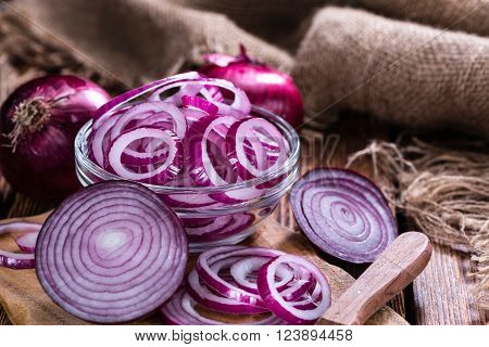Portion Of Red Onion Rings