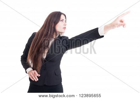 Visionary Business Woman Pointing Finger Up