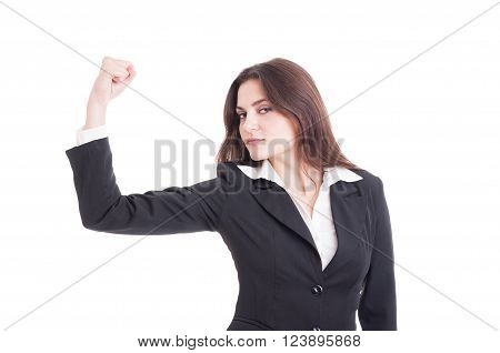 Strong And Powerful Business Woman, Entrepreneur Or Financial Manager