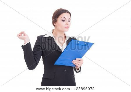 Busy And Arrogant Woman Business Inspector Or Supervisor