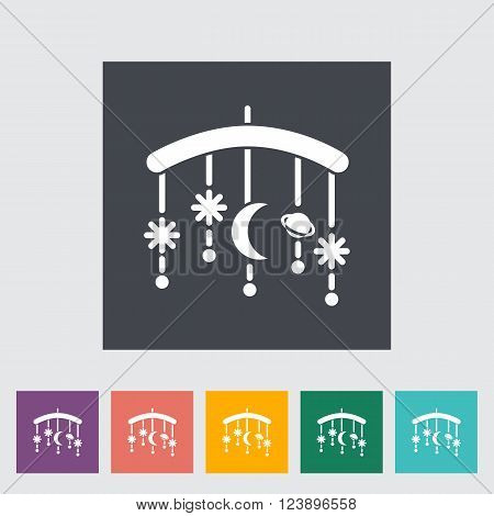Bed carousel icon. Flat vector related icon for web and mobile applications. It can be used as - logo, pictogram, icon, infographic element. Vector Illustration.