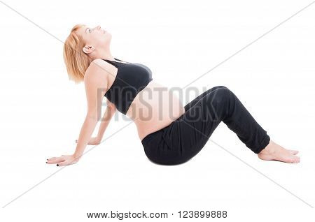 Pregnant Woman Making Prenatal Sport Exercises