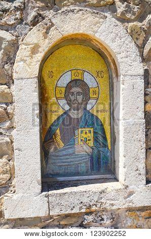 Icon In The Monastery Of St. George Epanosifi (greece, Crete)
