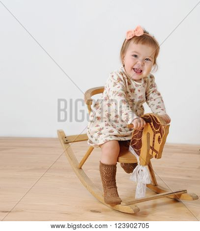 Little Girl And Horse - Rocking Chair