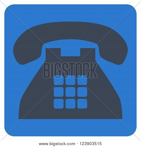 Tone Phone vector icon. Image style is bicolor flat tone phone icon symbol drawn on a rounded square with smooth blue colors.