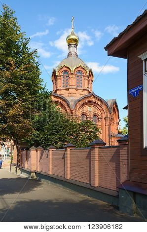 VLADIMIR RUSSIA - AUGUST 21 2015: Temple of Archangel Michael. Built in 1893. The temple project was drawn up by the provincial architect Afanasyev A.P engineer Karabutov I.O