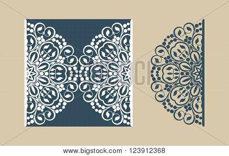 The layout of the cards in three additions. The template is suitable for greeting cards invitations menus etc. the picture suitable for laser cutting or printing. Vector. Easy to edit