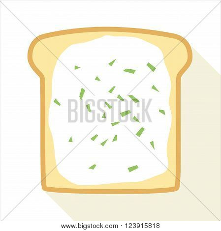 Slice Of Toast With Butter And Chive