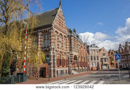 GRONINGEN, NETHERLANDS - MARCH 27, 2016: Old building of the Groningen Museum in the Netherlands
