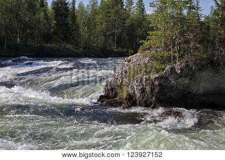 Rapid stream among rocks, Kola peninsula, northern Russia