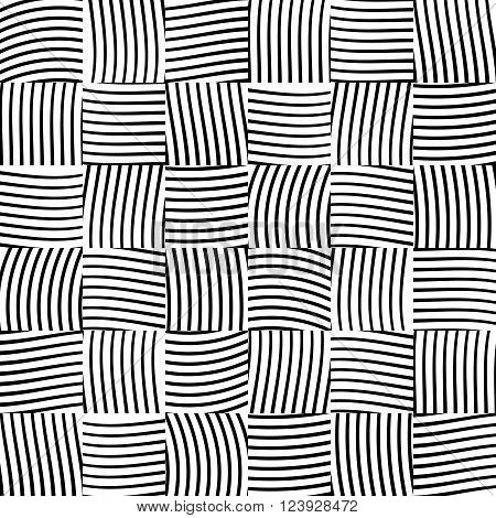 Seamless Vector Pattern. Background Of Interwoven Lines