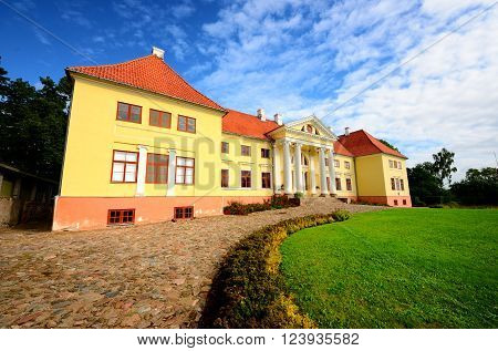 Old mansion of former Russian empire.  Durbes castle, Latvia