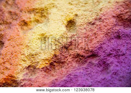photo flagstone painted with bright colors. closeup
