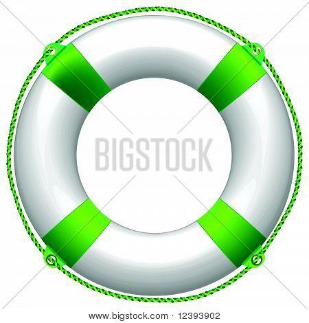 boya de vida verde