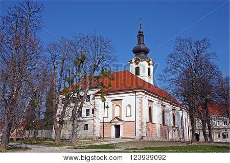 The parish church of Saint Nicholas dating from the 17th century Koprivnica Croatia
