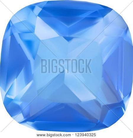 illustration with gem isolated on white background