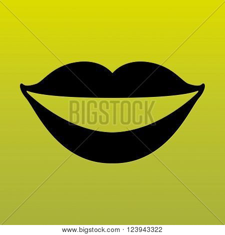 mouth icon design, vector illustration eps10 graphic