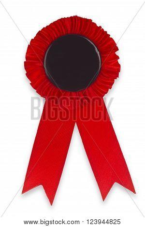 Award Ribbon isolated on white Background. Shot in Studio