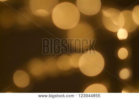 Beautiful Bokeh in golden Colors. Shot in Studio