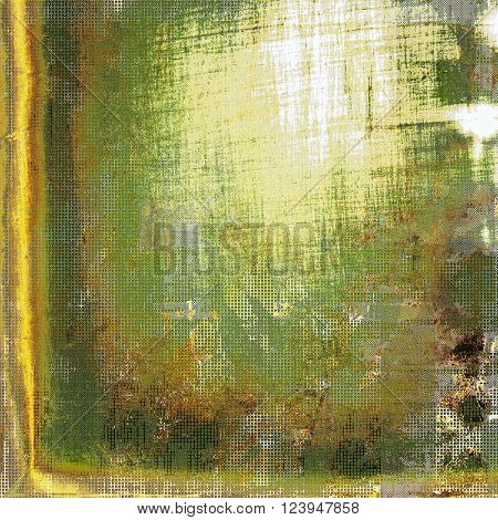 Scratched vintage texture, grunge style frame or background. With different color patterns: yellow (beige); brown; green; white; gray