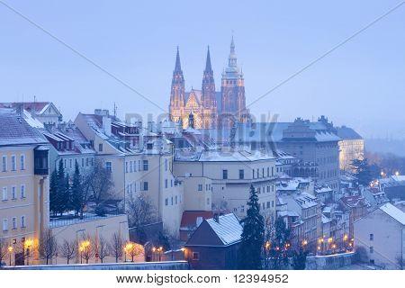 Hradcany Castle In Winter