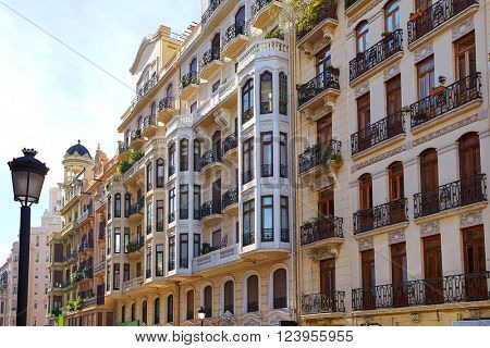 Valencia city downtown Castello street castellon of Spain