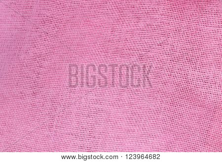 Fabric Texture Close Up of Pink Cotton Fabric Texture Pattern Background in Pastel Colors Tone.