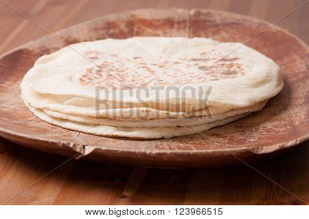 hand made artisinal flat bread made from scratch