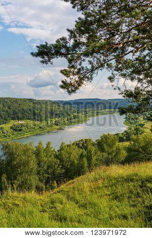 View to Oka river Aleksin Tula region Russia