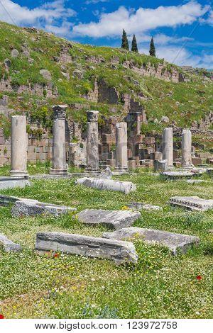Ruins of Pergamon Bergama Izmir Province Turkey