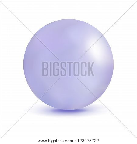 3D illustration sphere with a pearl effect. Element for design