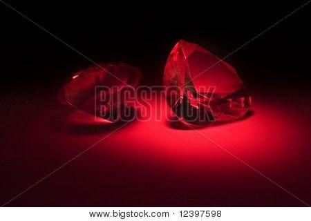 big diamonds at red lighting
