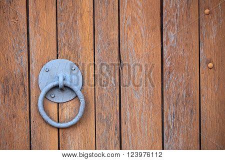 Door Knocker On Gate Door