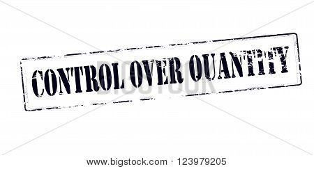 Rubber stamp with text control over quantity inside vector illustration`