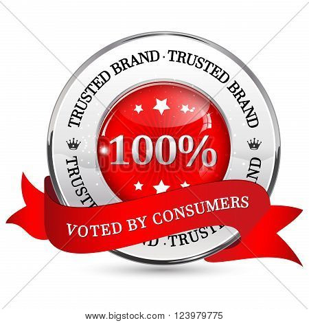 Trusted Brand. Voted by consumers - elegant ribbon