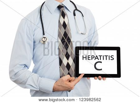 Doctor Holding Tablet - Hepatitis C