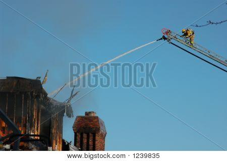Fireman, Ladder, & Hose